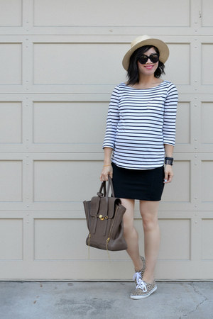 H&M shirt - 31 Phillip Lim bag - Aritzia skirt - leopard print H&M sneakers