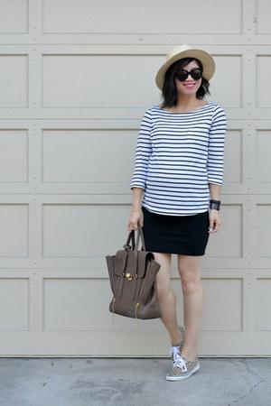 H&M shirt - 31 Phillip Lim bag - Aritzia skirt - leopard print H&M sneakers