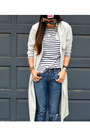 American-eagle-jeans-trench-h-m-jacket-stripes-h-m-shirt-nike-sneakers