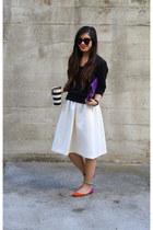 H&M sweater - midi H&M skirt - color block shoemint flats