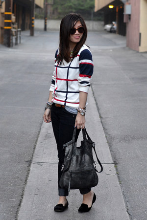 Forever 21 sweater - Forever 21 jeans - foley &amp; corinna bag