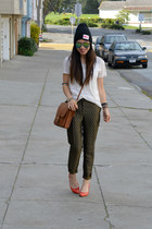 H&M pants - coach bag - miz mooz flats - H&M top
