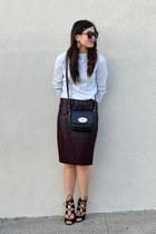 pencil H&M skirt - crossbody Mulberry x Target bag - Zara heels
