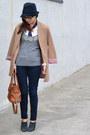 Paige-jeans-camel-h-m-jacket-michael-kors-bag-american-eagle-t-shirt
