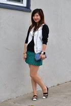 Zara vest - Steve Madden shoes - H&M sweater - Zara skirt