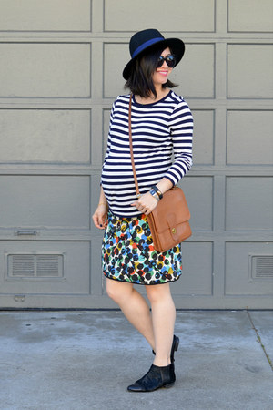 Matiko shoes - Forever 21 hat - stripes Gap shirt - willis thrifted coach bag