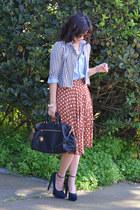 stripe Lucca Couture kids jacket - chambray H&M Kids shirt - Prada bag