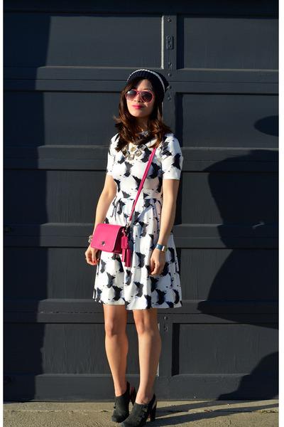 H&M dress - Gap hat - coach purse - Nanette Lepore heels