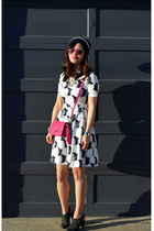 H&M dress - Gap hat - coach purse - Nanette Lepore heels