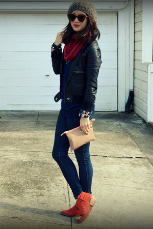 Joie boots - f21 jeans - unknown brand jacket - H&M shirt - Zara bag