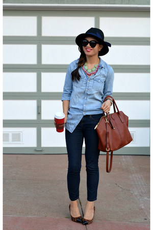 Libi & Lola necklace - Forever 21 jeans - H&M Kids shirt - 31 Phillip Lim bag