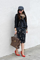 star print Ross sweater - Gap hat - H&M scarf - pashli 31 Phillip Lim bag