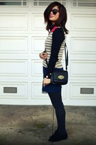 H&M top - Cynthia Rowley for Target bag - Boutique 9 loafers - f21 skirt