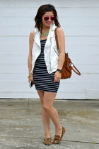 Zara vest - French Connection dress - Michael Kors bag - Steve Madden loafers