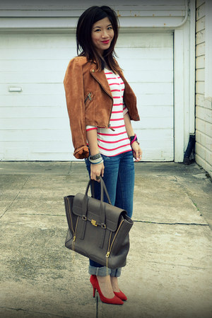 Gap heels - American Eagle jeans - Madwell jacket - H&M shirt
