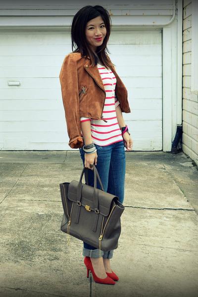 Gap heels - American Eagle jeans - Madwell jacket - H&M shirt