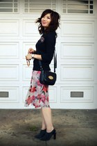 Vintage DVF dress - Gap sweater - Cynthia Rowley for Target bag