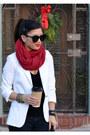 Silver-nordstrom-shoes-forever-21-jeans-white-zara-blazer