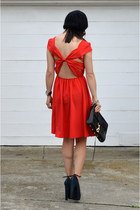 bow Sway Chic dress - Forever 21 hat - Rebecca Minkoff bag