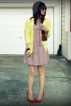 Zara Kids dress - f21 hat - Zara sweater - Clare Vivier bag - Gap heels