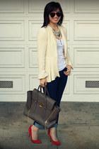 Phillip Lim bag - BR jeans - Zara blazer - Gap heels - Gap top