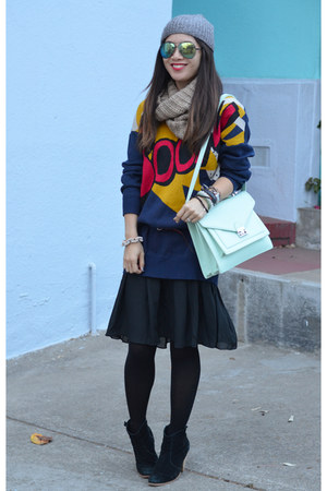 dress 31 Phillip Lim x Target sweater - asos boots - leather H&M jacket