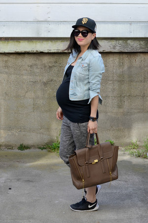 denim H&M jacket - pashli 31 Phillip Lim bag - jogger Forever 21 pants