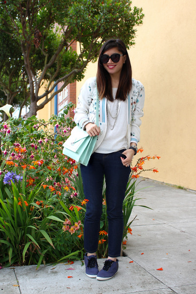 asian inspired Zara jacket - H&M shoes - Forever 21 jeans - loeffler randall bag