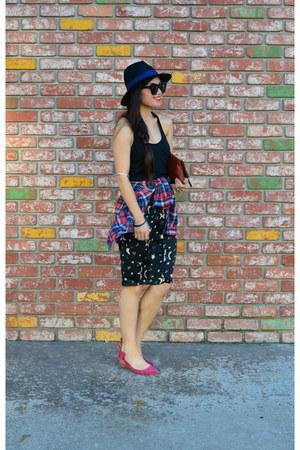 Aritzia top - Report shoes - Forever 21 hat - clutch Clare Vivier bag