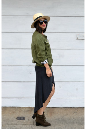 0a3e30d10a3 panama H M hat - Old Navy boots - Zara dress - H M jacket