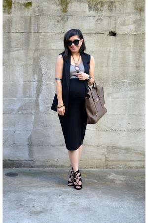 pencil asos skirt - pashli 31 Phillip Lim bag - blazer H&M vest - Zara heels