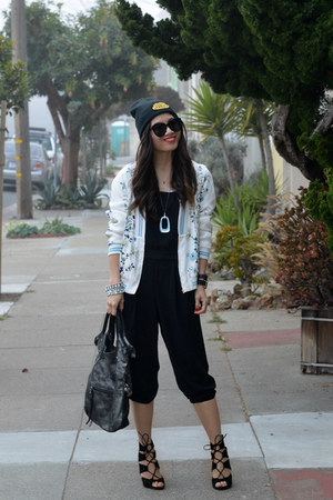 beanie Marc Jacobs hat - Zara jacket - foley & corinna bag - Zara heels