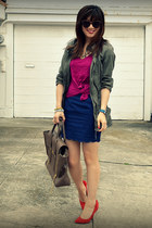 f21 skirt - Zara jacket - f21 shirt - Phillip Lim bag
