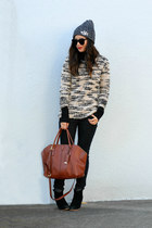 Mango sweater - black asos boots - Forever 21 jeans
