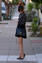 polka dot H&M shirt - mac Rebecca Minkoff bag - Karen Walker sunglasses
