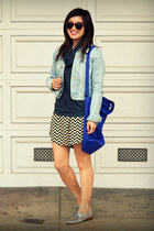 dress as skirt everly dress - H&M jacket - Gap top