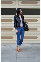 leather H&M jacket - oxfords DV by dolce vita shoes - Forever 21 jeans
