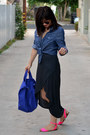 Thrifted-shirt-zara-dress-baggu-bag-zara-sandals