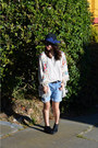 Matiko-shoes-forever-21-hat-kimono-zara-jacket-forever-21-shorts