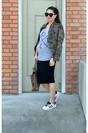 camo Zara jacket - 31 Phillip Lim bag - Zoe Karssen t-shirt - asos skirt