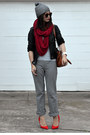 H-m-hat-faux-leather-unknown-brand-jacket-american-apparel-scarf