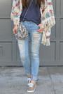 Distressed-ross-jeans-kimono-zara-jacket-sequin-free-people-bag