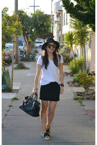 glitter Keds x Kate Spade sneakers - Forever 21 hat - Prada bag