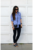 boyfriend Gap shirt - Forever 21 jeans - Mulberry x Target bag