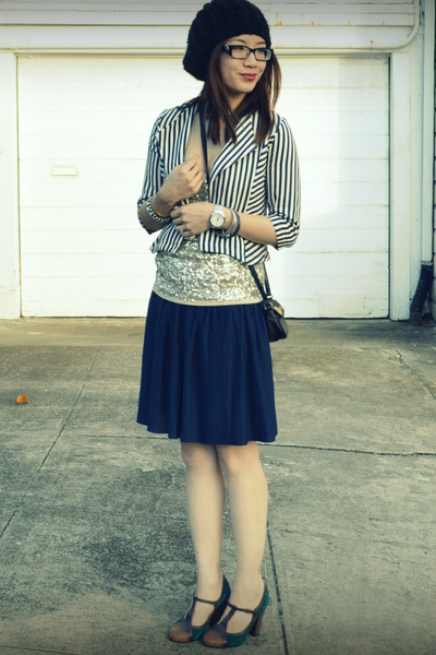 Lucca Couture kids jacket - H&M skirt - Anthropologie heels
