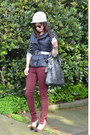 Zara-jeans-h-m-hat-foley-corinna-bag-leopard-loft-heels-h-m-top