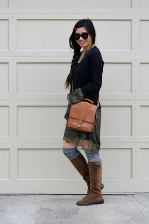 lace H&M dress - Enzo Angiolini boots - H&M sweater