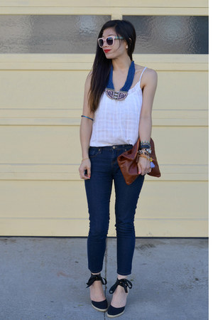 unknown top - espadrilles Tommy Hilfiger thrifted shoes - Forever 21 jeans