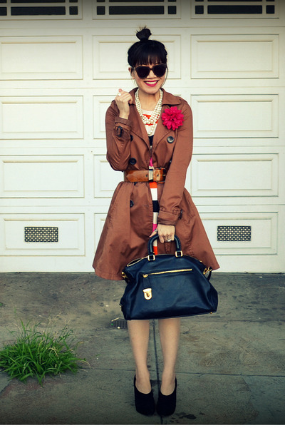 H&M jacket - H&M dress - Prada bag - Max Studio heels