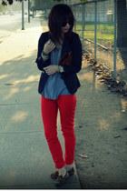 H&M pants - H&M blazer - Clare Vivier bag - Steve Madden loafers - f21 t-shirt